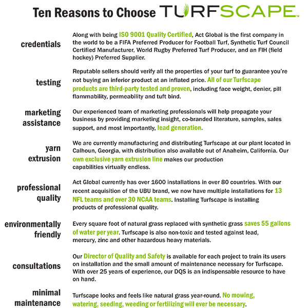 10 Reasons to Choose Turfscape